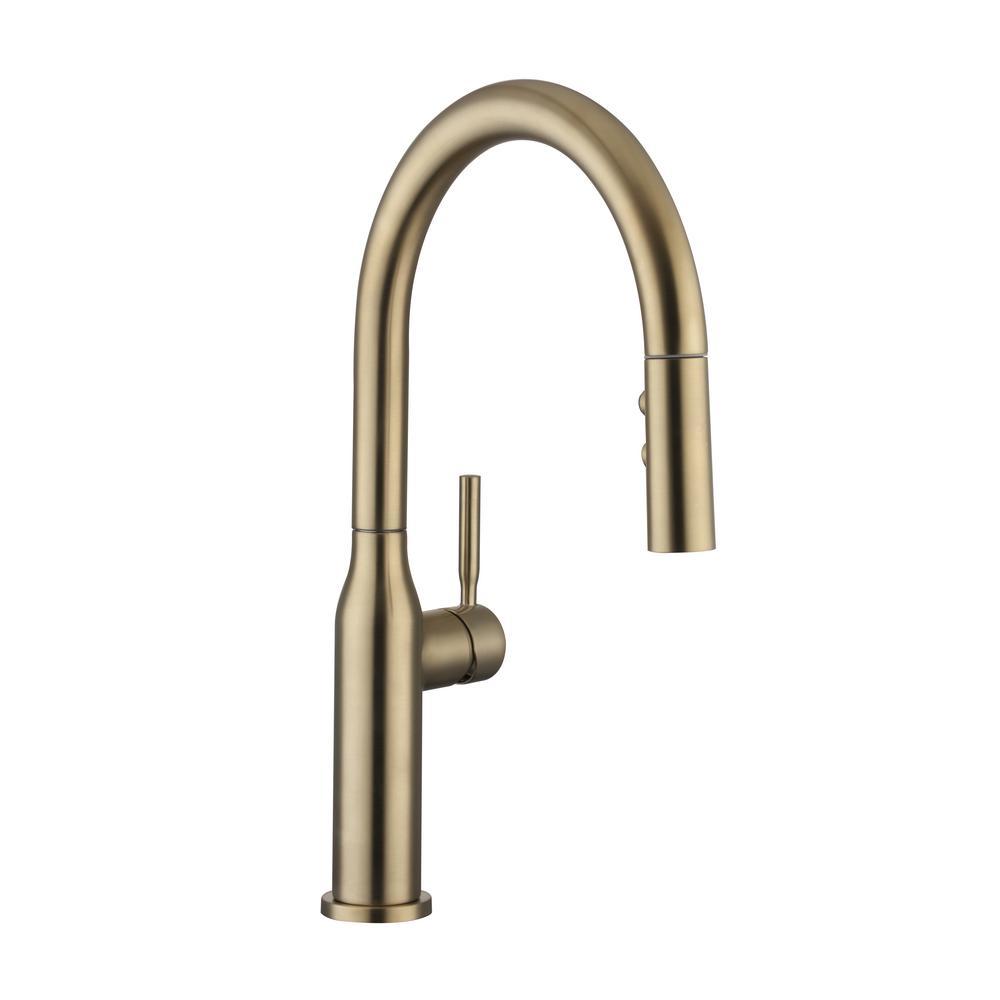 Glacier Bay Upson Single Handle Pull Down Sprayer Kitchen Faucet