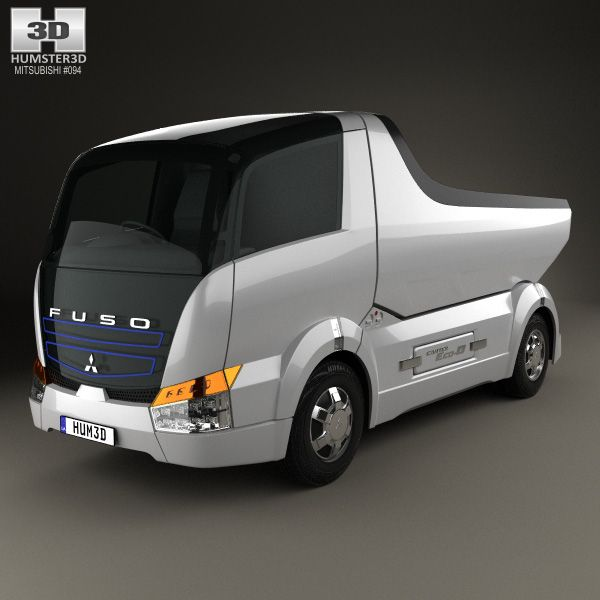 3d Model Of Mitsubishi Fuso Canter Eco D Hybrid Truck 2007 Hybrid Trucks Mitsubishi Trucks