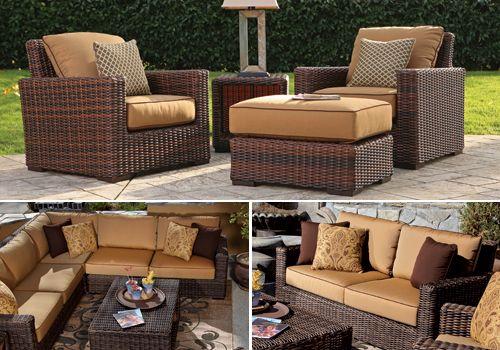 Hampton Premium Outdoor Wicker Collection In Java Weave Outdoor Furniture Sets Outdoor Wicker Outdoor Furniture