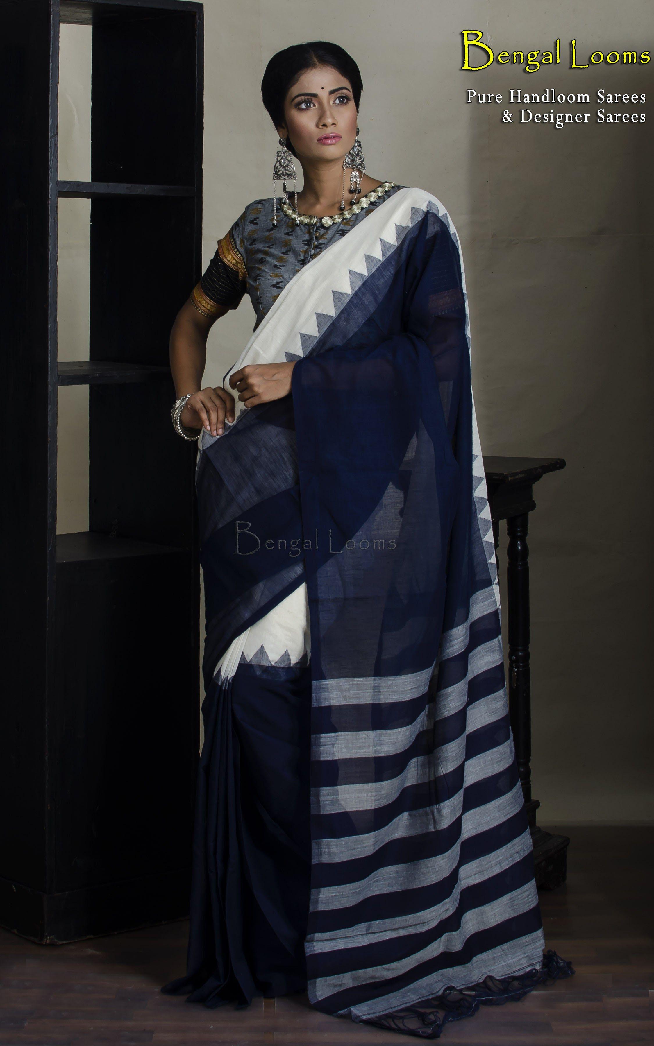 Pin By Sonia Chhabra On Sarees In 2020 Khadi Saree Cotton Saree Handloom Saree
