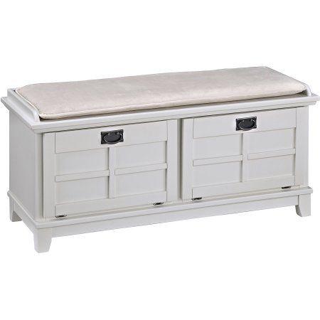 Homepop Nailhead Storage Bench Walmart Com Upholstered Storage Upholstered Storage Bench Large Storage Bench