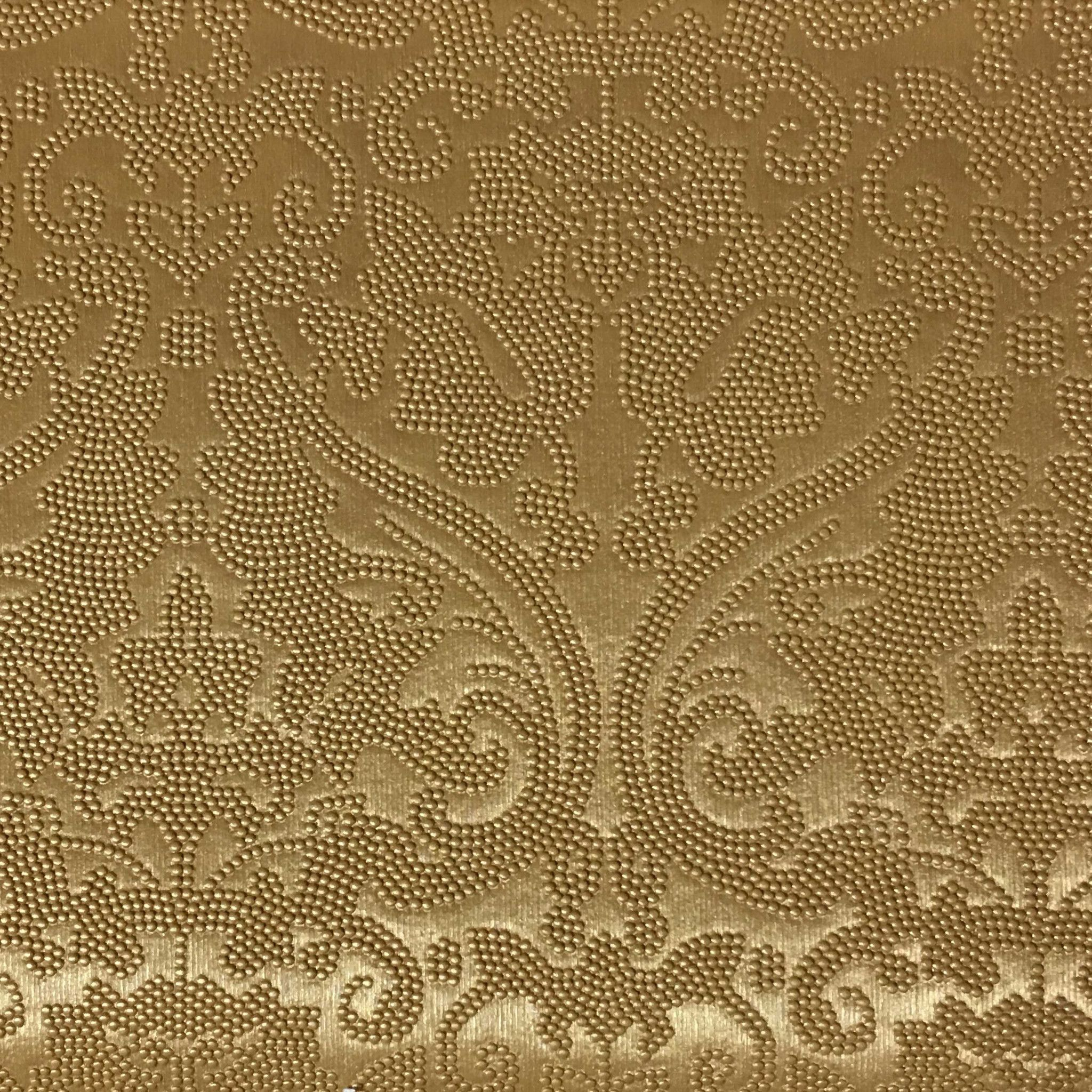 Lyon Embossed Damask Pattern Vinyl Upholstery Fabric By The Yard