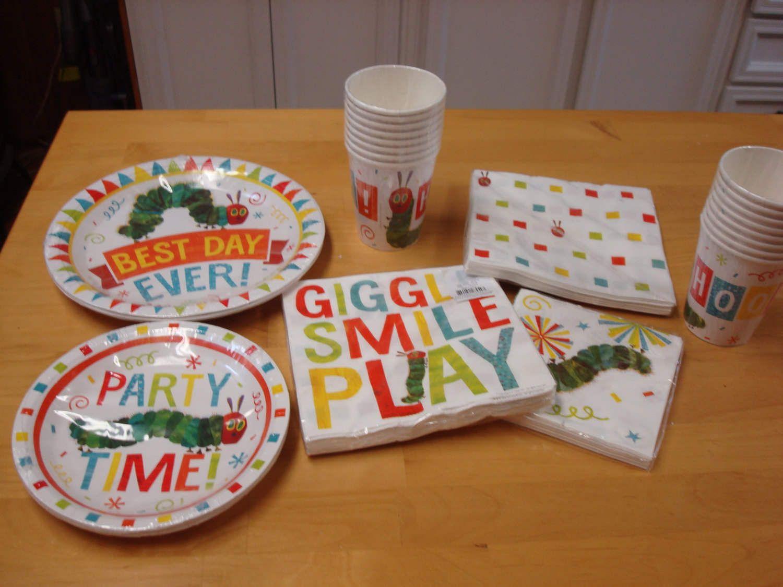 The Very Hungry Caterpillar Theme Tableware; Dinner Plate, Dessert ...