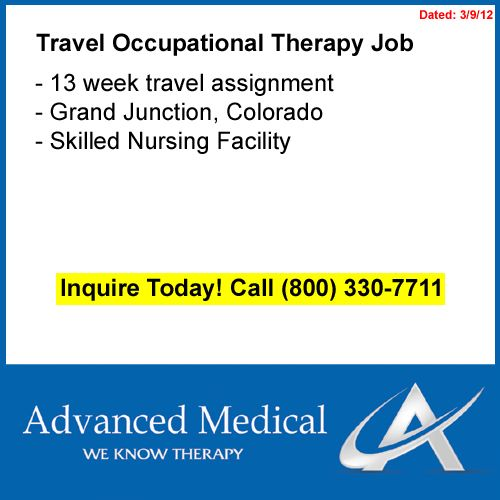 A travel occupational therapist job in Grand Junction, Colorado at - physical therapist job description
