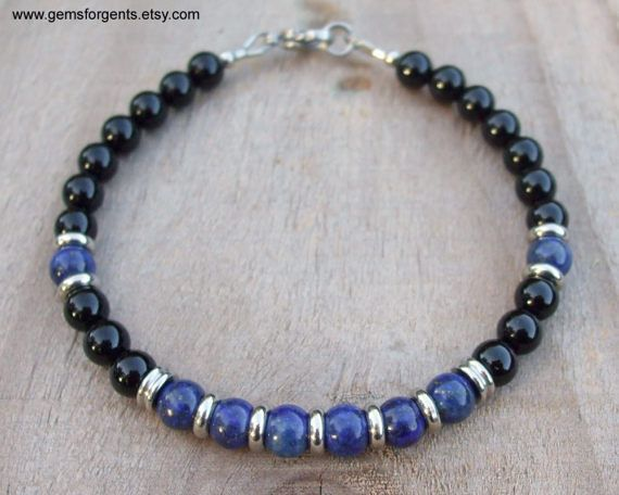 black bead bracelet and mens gold onyx womens men spinel s products women turquoise lapis