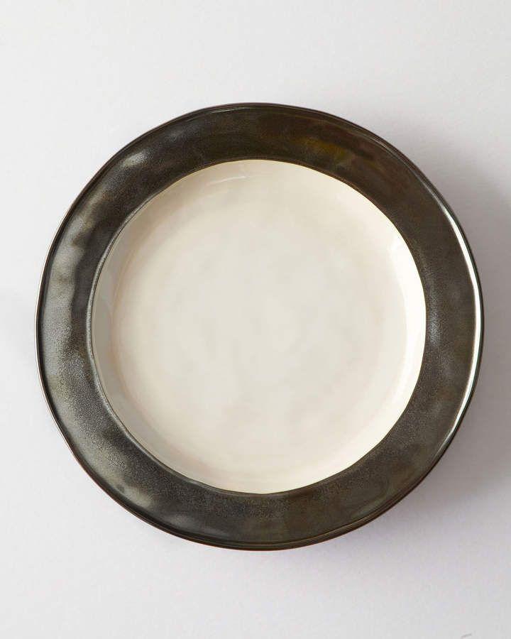 Juliska Emerson White//Pewter Dinner Plate