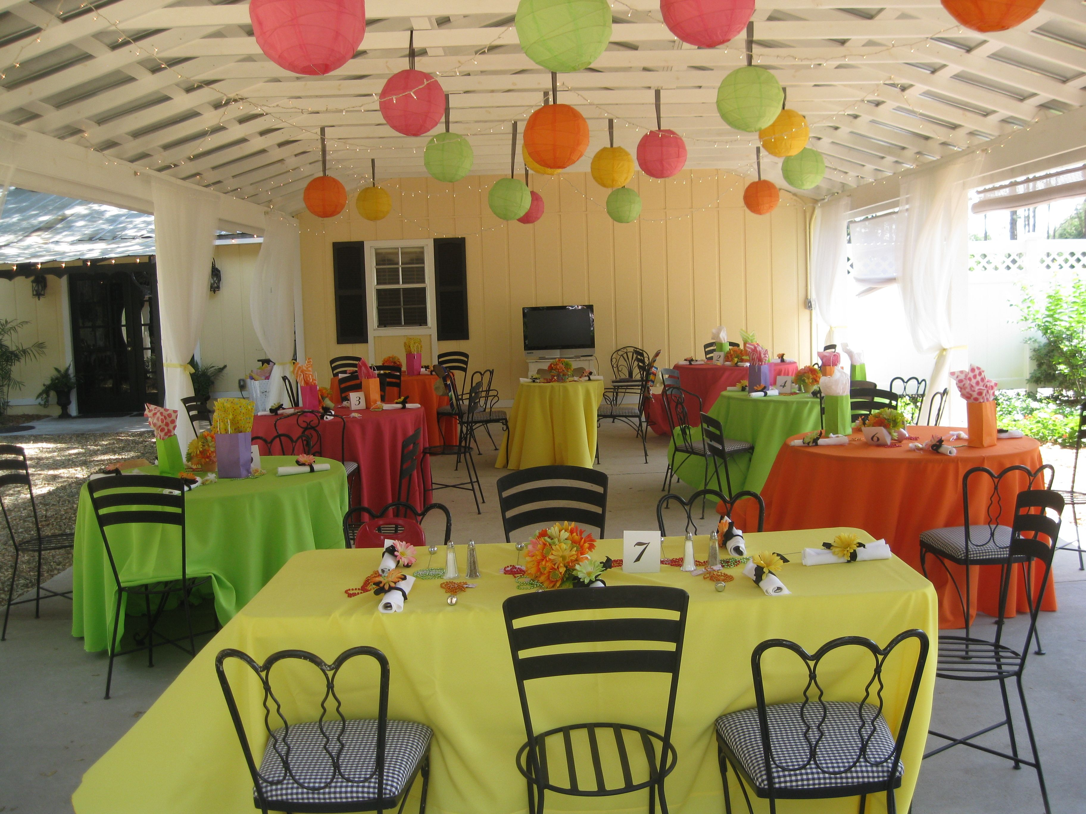 Ordinaire Colorful Tablecloths No Overlay