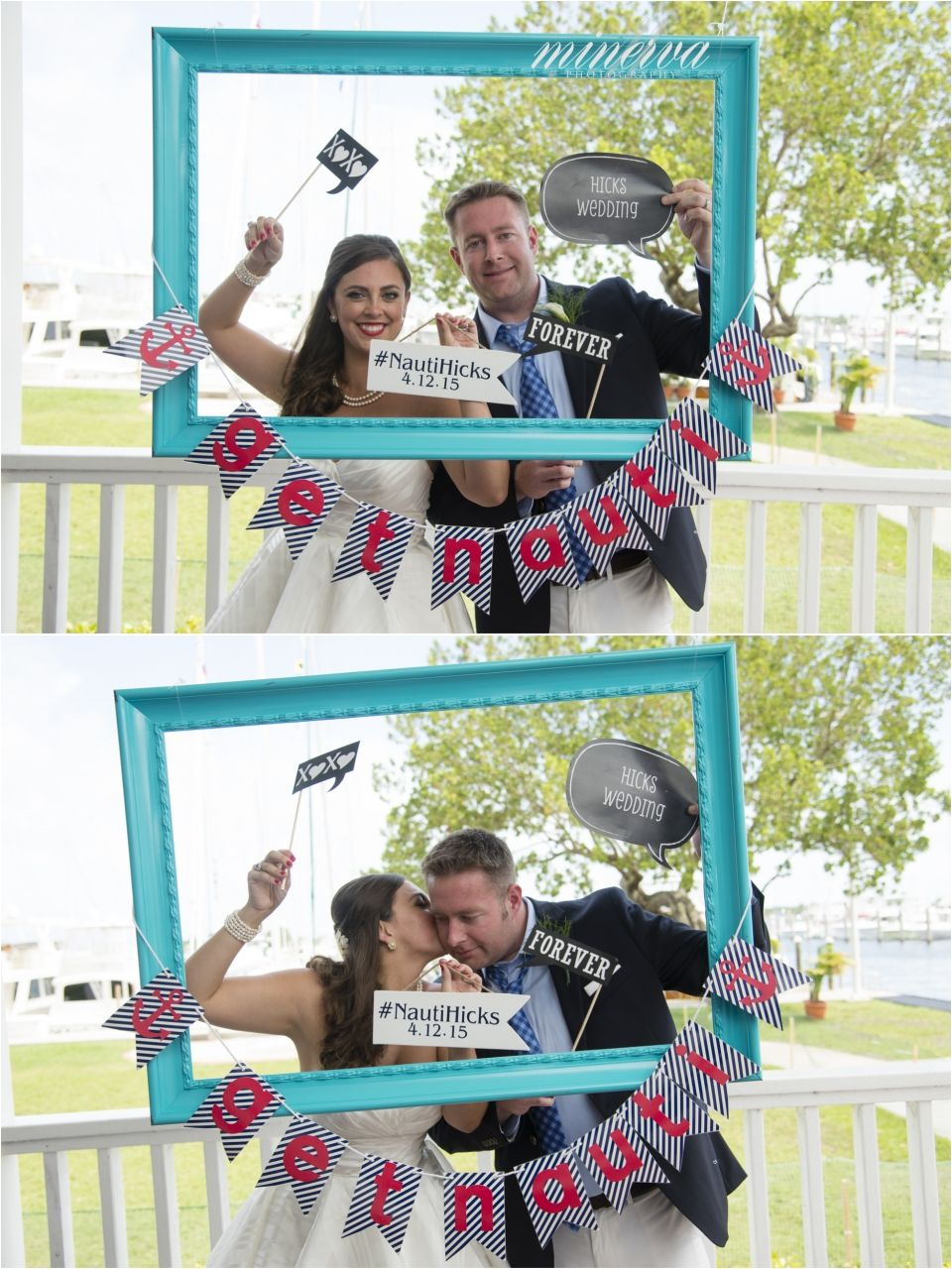 outdoor self made diy photo booth with hanging frame and props ...