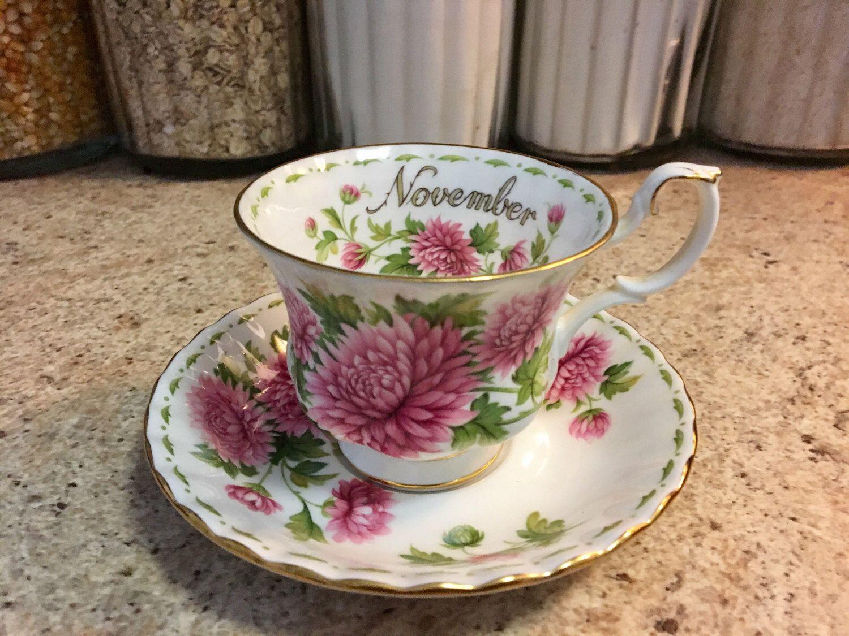 Collectible November Royal Albert Floral Vintage China Tea