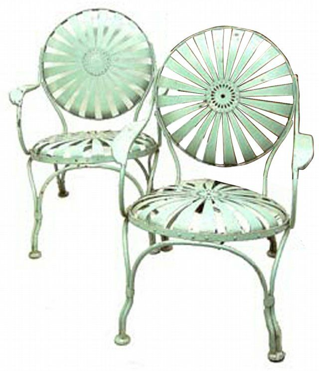 Photo: These French Garden Chairs Are Made Of Spring Steel Painted ... /  LJWorld.com