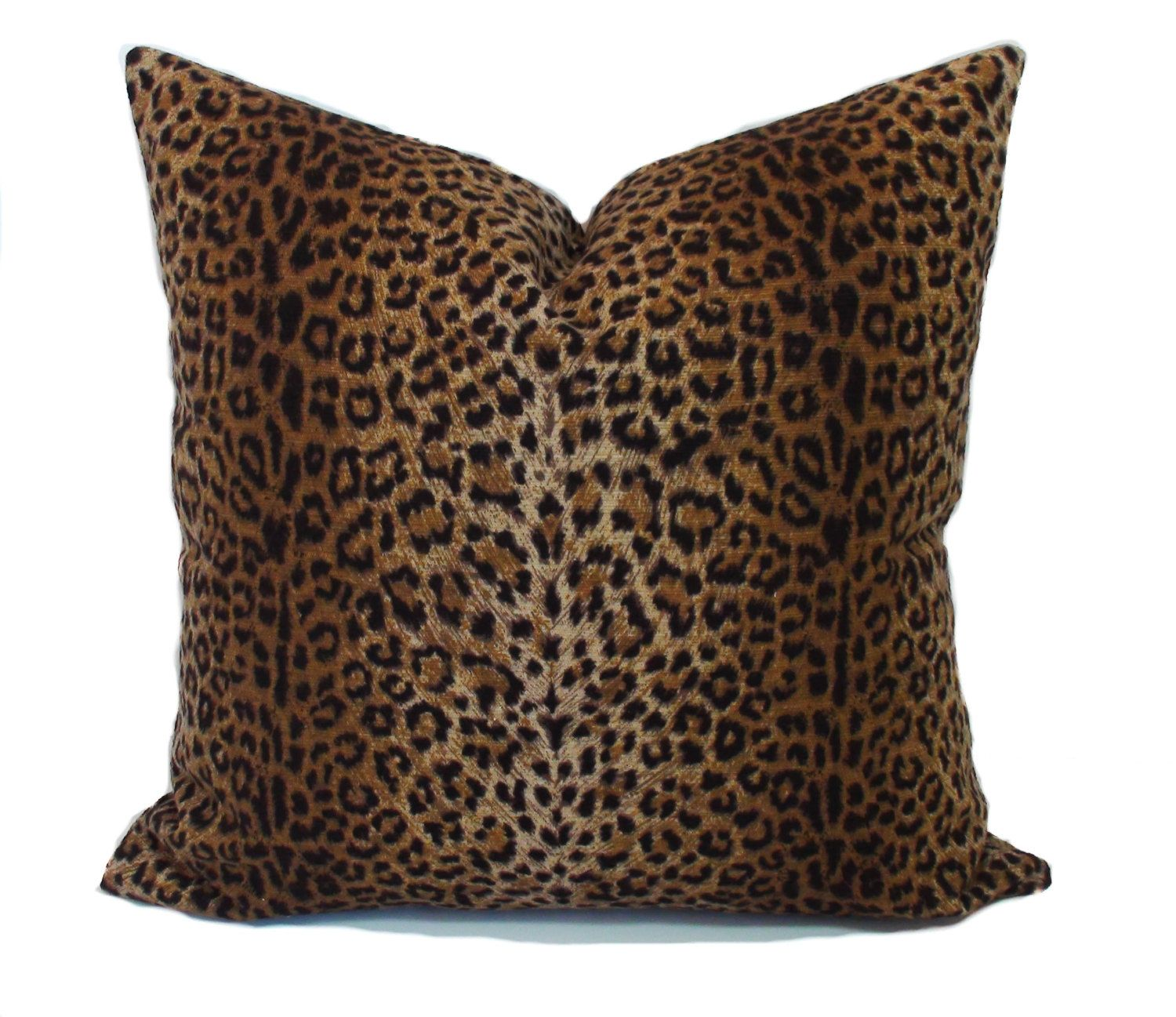 Leopard pillow cover, Leopard print pillows, Animal print pillow ...