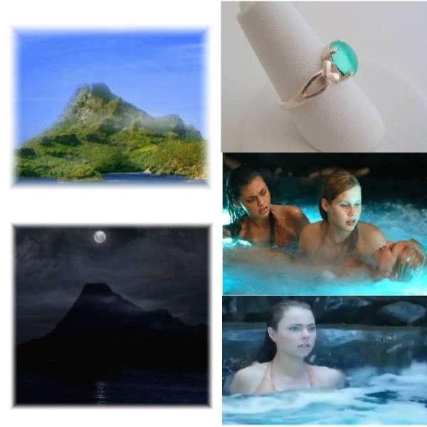 Sterling Silver Moon Pool Mermaid Sea Legs Ring Mako Mermaids H2o