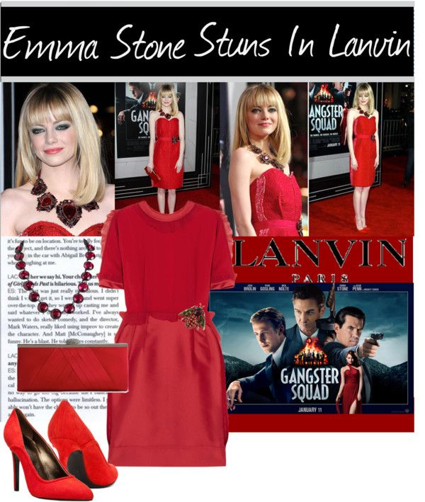 """Emma Stone Stuns In Lanvin"" by the-freckled-gypsy ❤ liked on Polyvore"