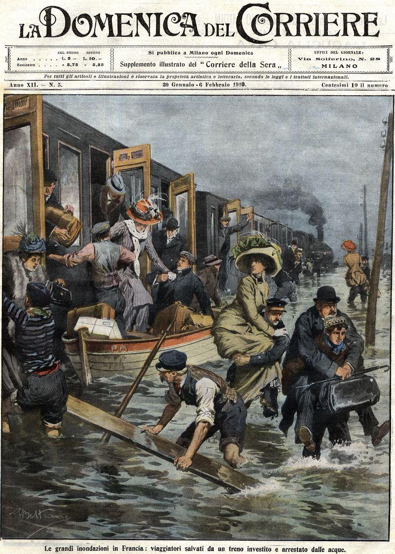 La Seine déborde mais ces Photos d'Archives de 1910 Ã