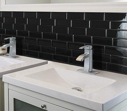 Metro Nero Carrelage Adhesif Smart Tiles Simplement Peler Et Coller Le Produit Adherera Sans Aucun Aj Avec Images Carrelage Mural Carrelage Mural Adhesif Parement Mural