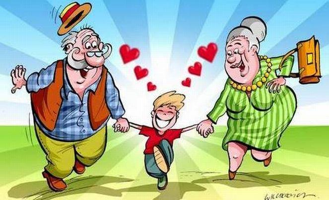 Смешная картинка про детей и дедушек