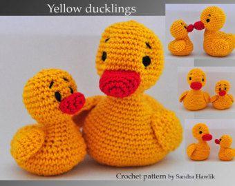 Amigurumi Duck Tutorial : Crochet pattern amigurumi yellow duck duckling pdf english