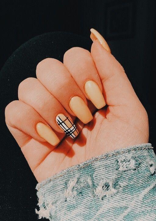P I N T E R E S T Celyahama8 Best Acrylic Nails Burberry Nails Pretty Acrylic Nails