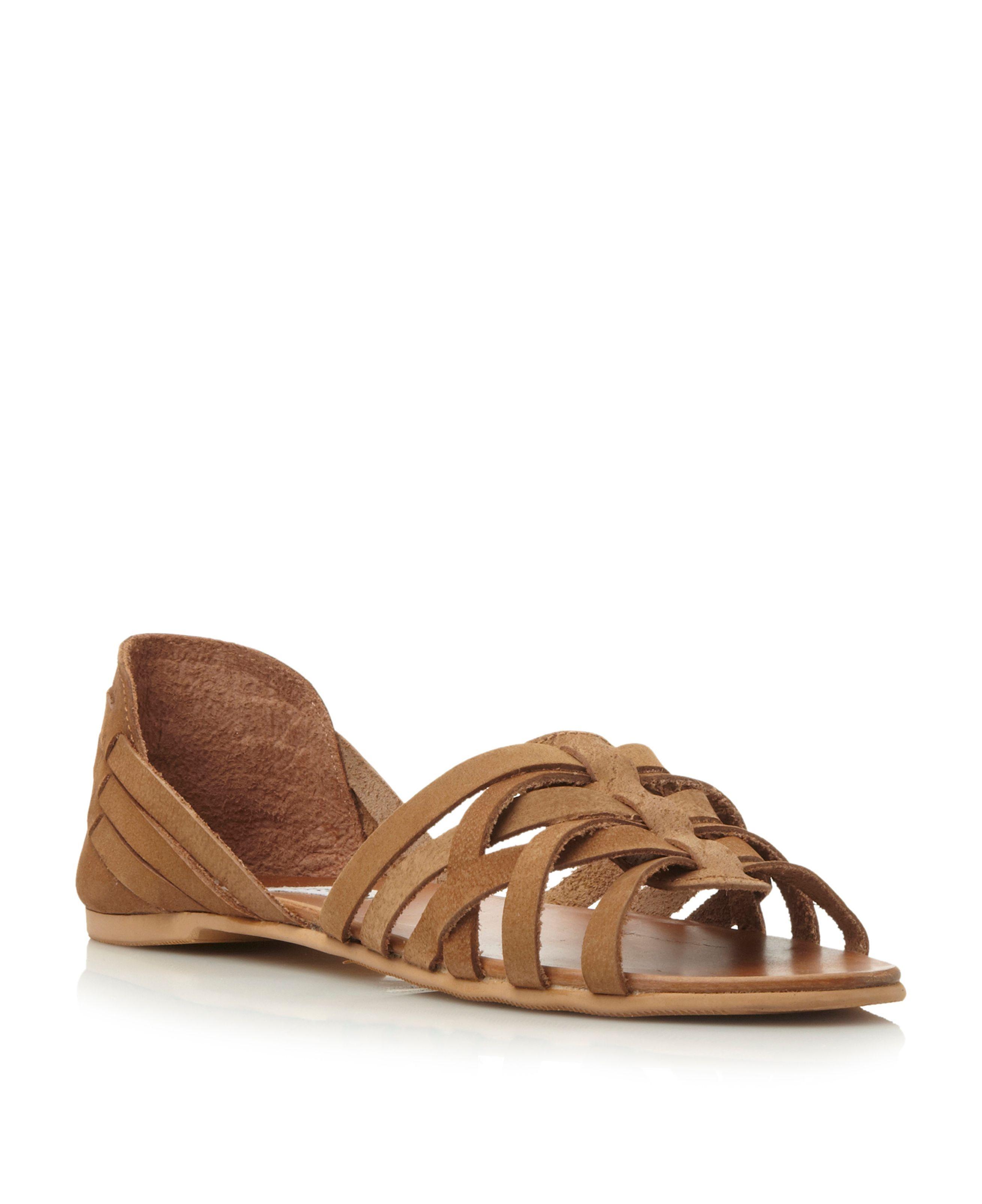 4cdc0063589 Steve Madden Flute sm leather huarache sandals, Brown | Ladies Shoes