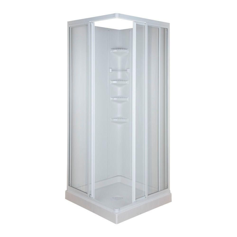 32 In X 32 In X 70 3 4 In Standard Fit Corner Shower Kit 401060