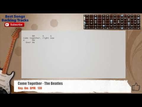 Come Together - The Beatles Guitar Backing Track with chords and ...