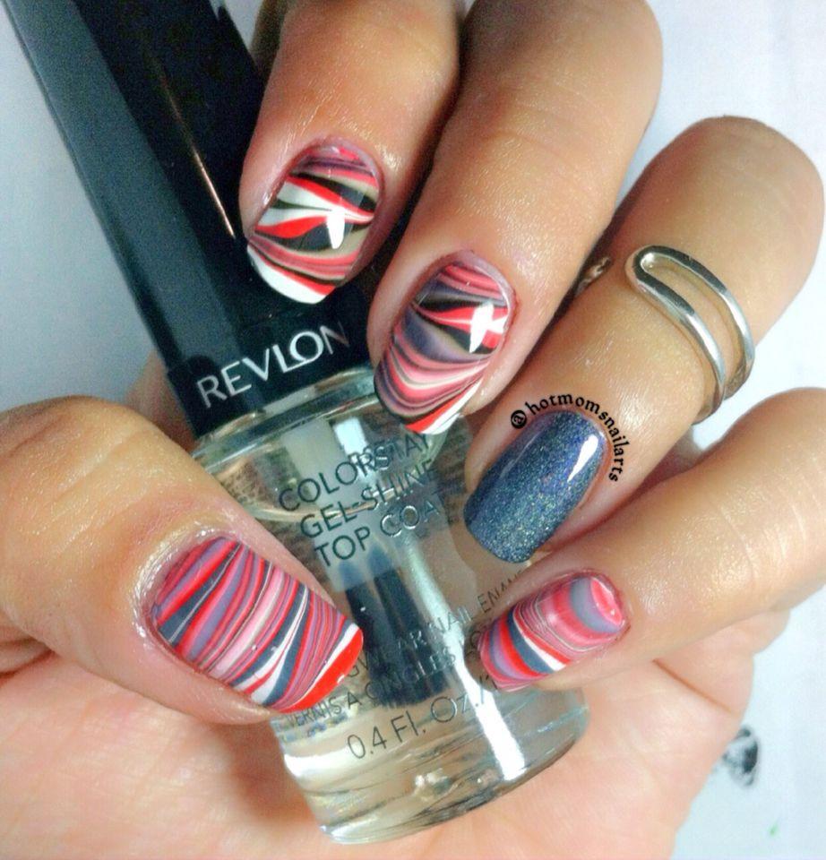 Watermarble nails Nail art inspiration, Nail arts, Nail art