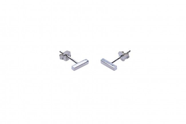 Minimalistische Oorbellen Zilver : Minimalistische oorbellen symbols tubes square sterling zilver