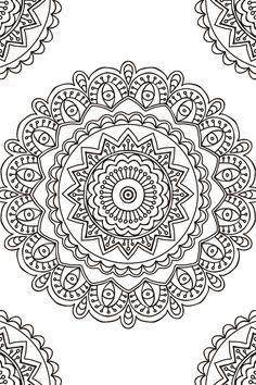 Mandalas En Blanco Y Negro Para Imprimir Buscar Con Google