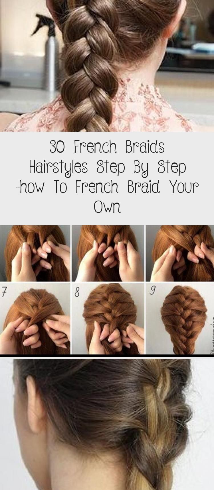 French Braid Hair Style Step By Step
