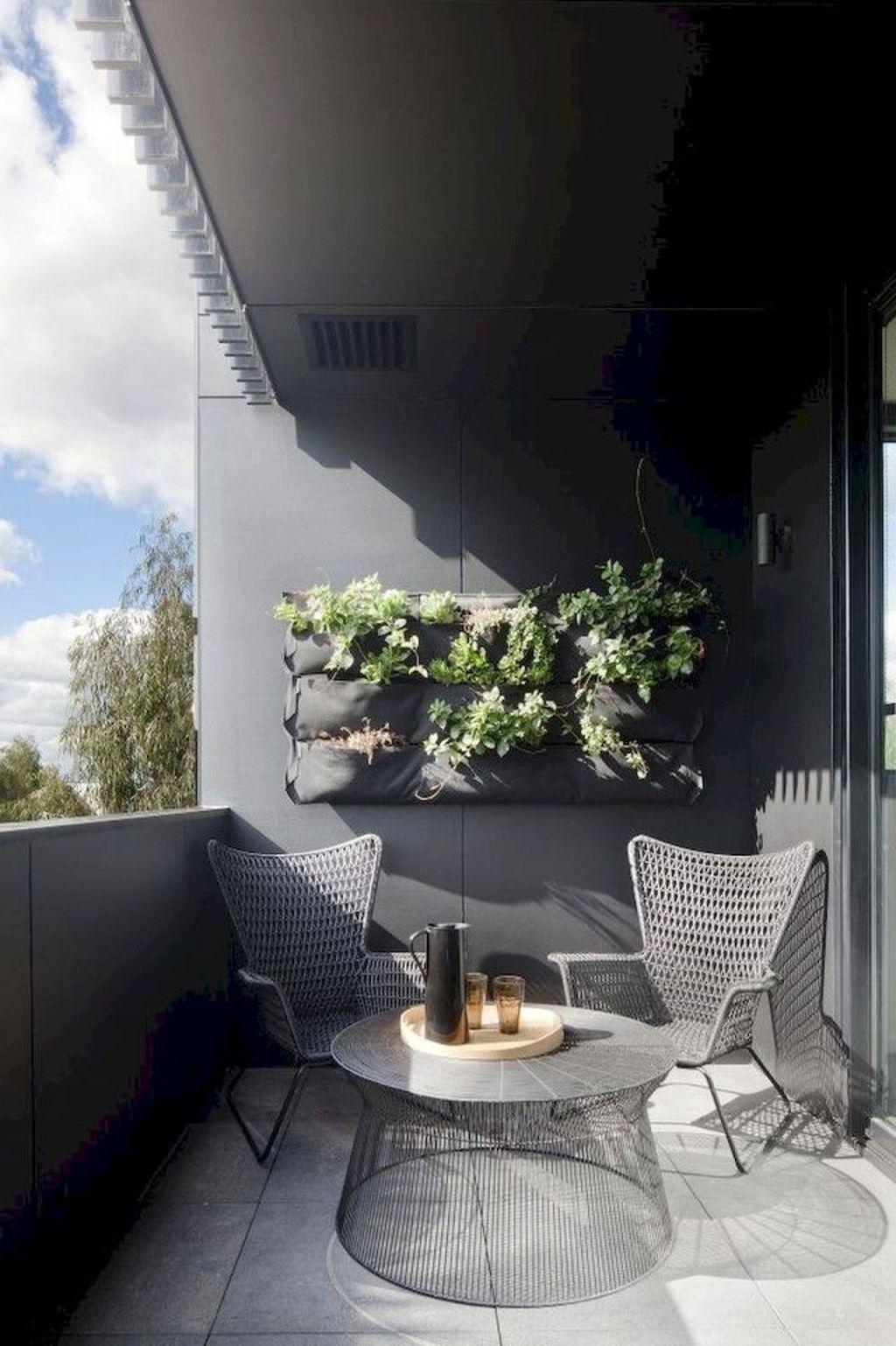 40 Chic Apartment Small Balcony Design Ideas For You Small Balcony Design Balcony Design Modern Balcony Furniture