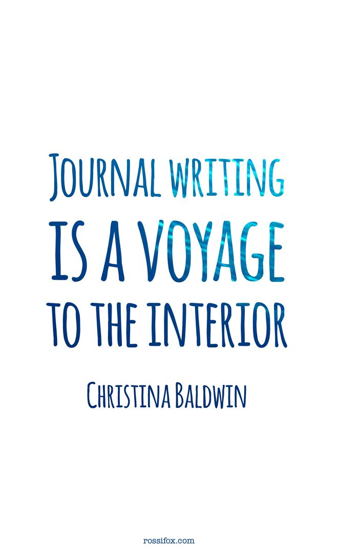 Journal Writing Is A Voyage Christina Baldwin Art Journal Best Quotes Journal