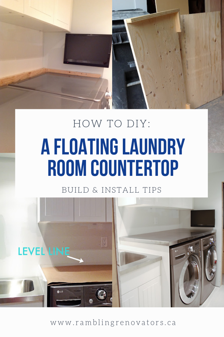 Photo of How to DIY a Floating Laundry Room Countertop