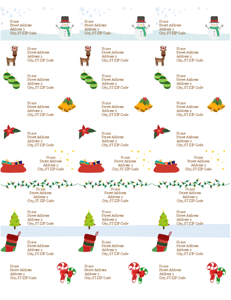 print your own holiday gift labels with this accessible template the labels are 2
