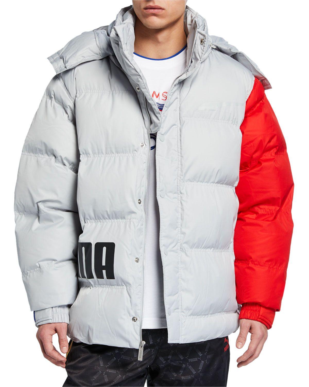 Puma Men S X Ader Colorblock Puffer Jacket Puma Cloth Jackets Mens Outdoor Jackets Puma Mens [ 1500 x 1200 Pixel ]