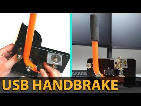 MAKE THIS EASY USB HANDBRAKE | SIM RACING | DIY | E-BRAKE - YouTube