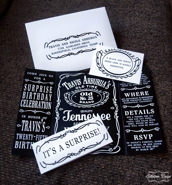Jack Daniels Invitations. I Want To Do This For My