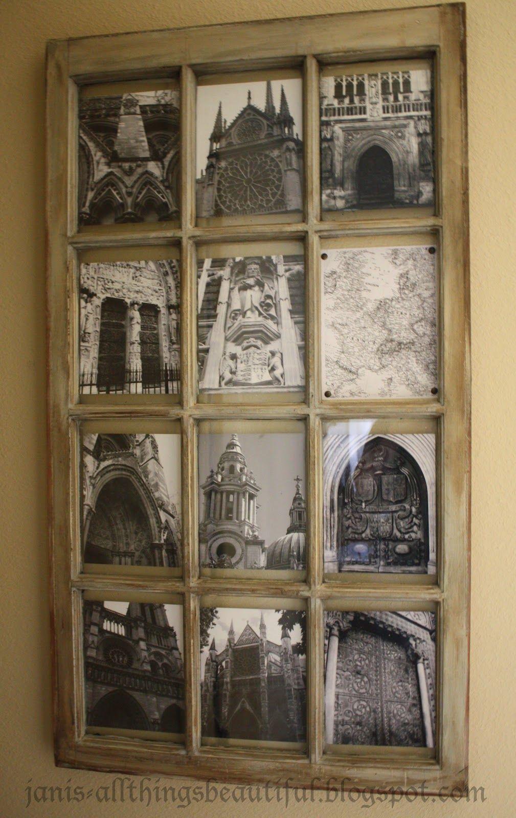 Window pane ideas  all things beautiful old window art  wall art in   pinterest
