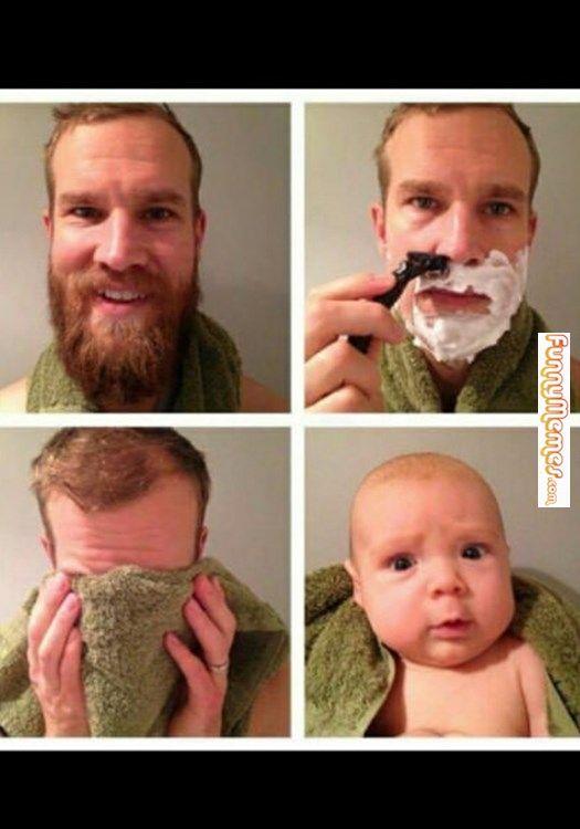 865b2c702d5015157a102178228f82f4 funny memes after shave beard humor pinterest funny memes