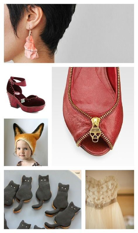 Itsy Bitty Things - Currently Loving #alexander #mcqueen #modcloth #fox #halloween #cookies #cat #black #oxblood