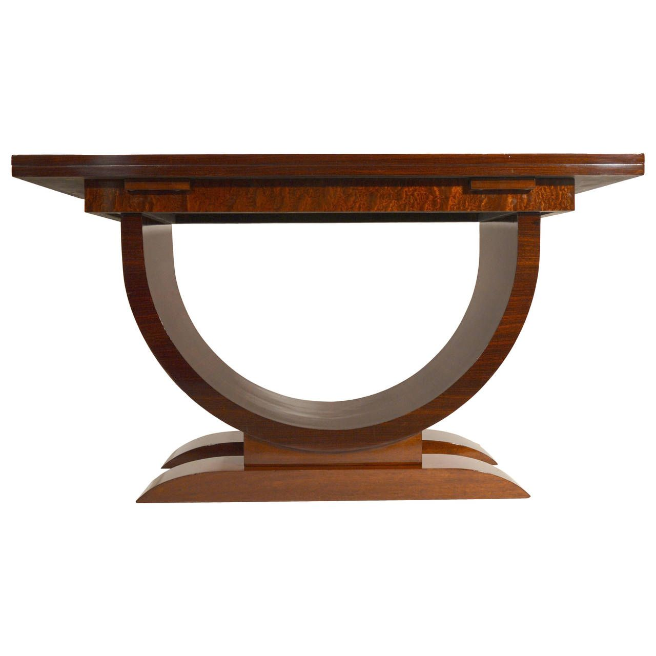 Art Deco Folding Side Table in Rosewood and Mahogany | From a unique collection of antique and modern console tables at https://www.1stdibs.com/furniture/tables/console-tables/