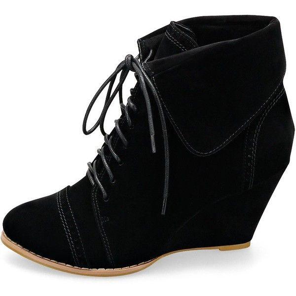 MQ23 Damen super bequeme Ankle - Boots mit Keilabsatz 312-1: Amazon.de: Schuhe & Handtaschen found on Polyvore