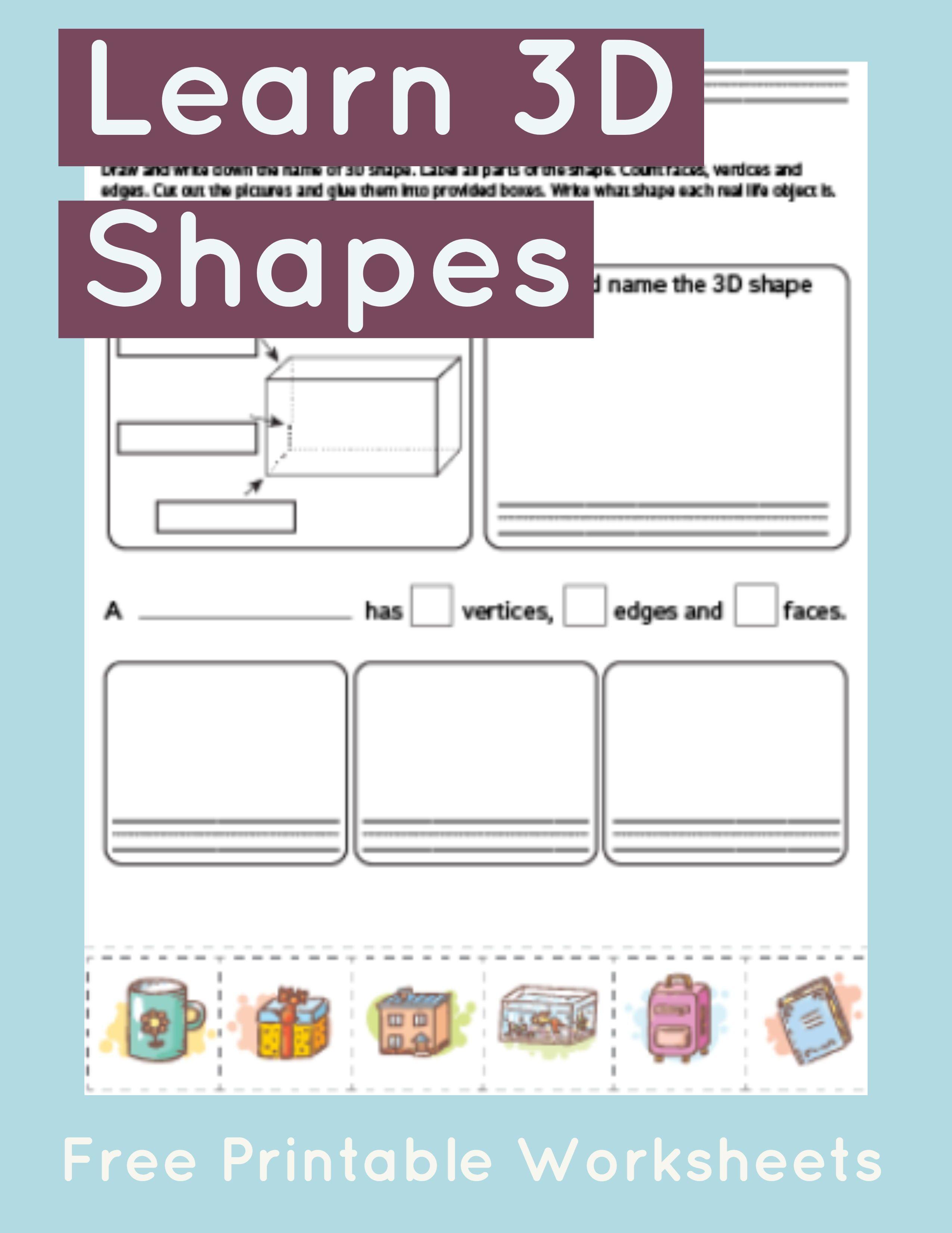 Rectangular Prism Worksheet Primarylearning Org Shapes Worksheet Kindergarten Math Worksheets Free Math