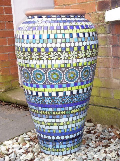 Blue mosaic ali baba pot by BLUE DOG JEWELLERY, via Flickr