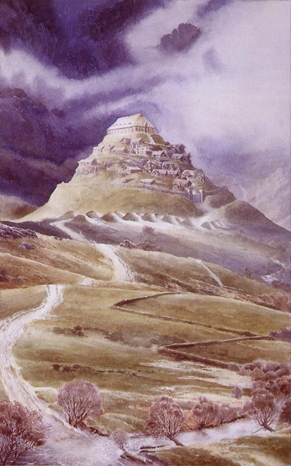 Edoras - Alan Lee | Alan lee, Alan lee art, Fantasy art