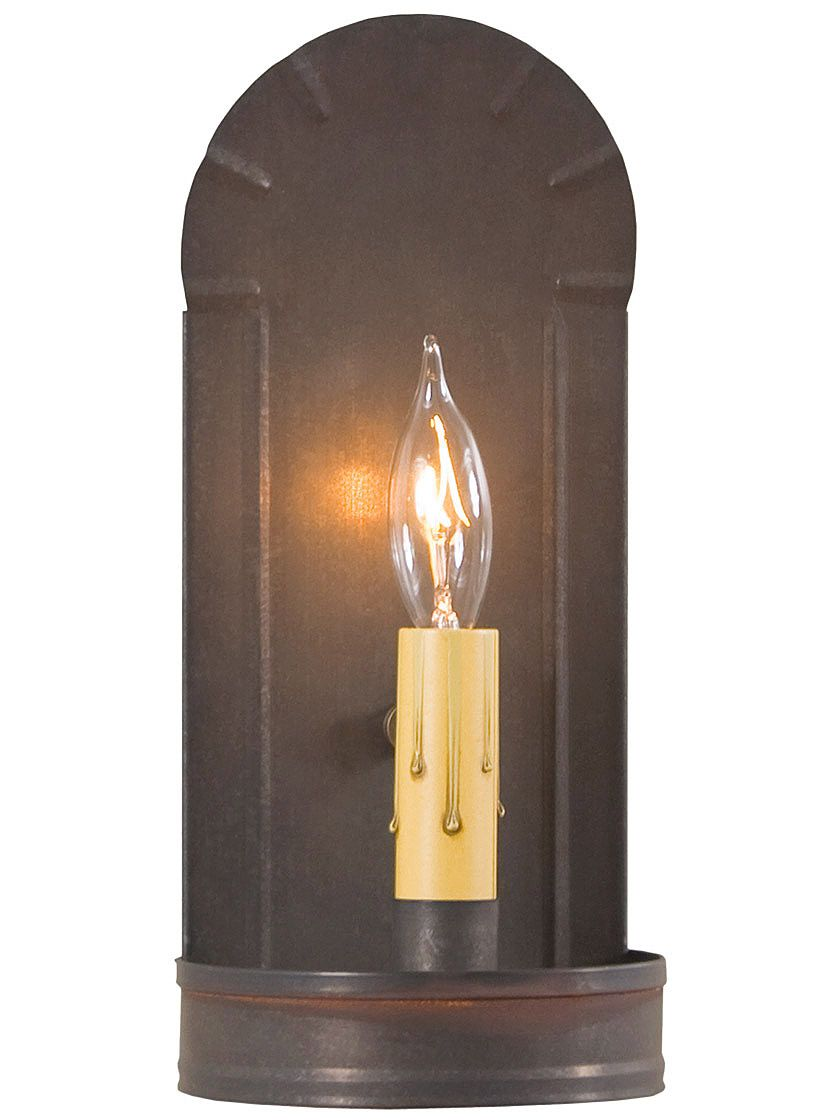 Crimped Tin Fireplace Sconce With Images Wall Sconces Bedroom Farmhouse Wall Sconces Indoor Wall Sconces
