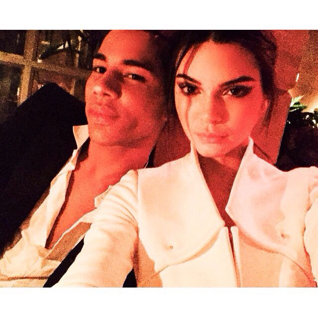 "Olivier: ""OUR SATURDAY night FEVER ❤️ #itscoutureBabY #paris #love #diner @kendalljenner"""