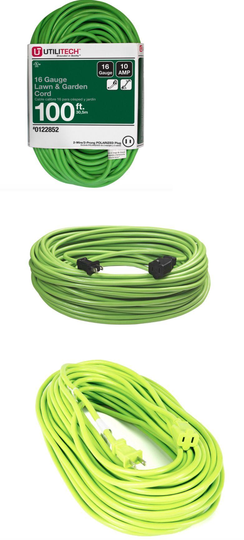 Extension Cords 75577 Utilitech 100 Ft 10 Amp 125 Volt 16 Gauge Lime Green Outdoor Extension Cord 100 Ft Extension Cord Outdoor Extension Cord Extension Cord