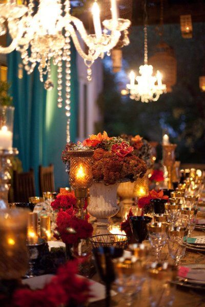 .Elegant Moroccan dinner party