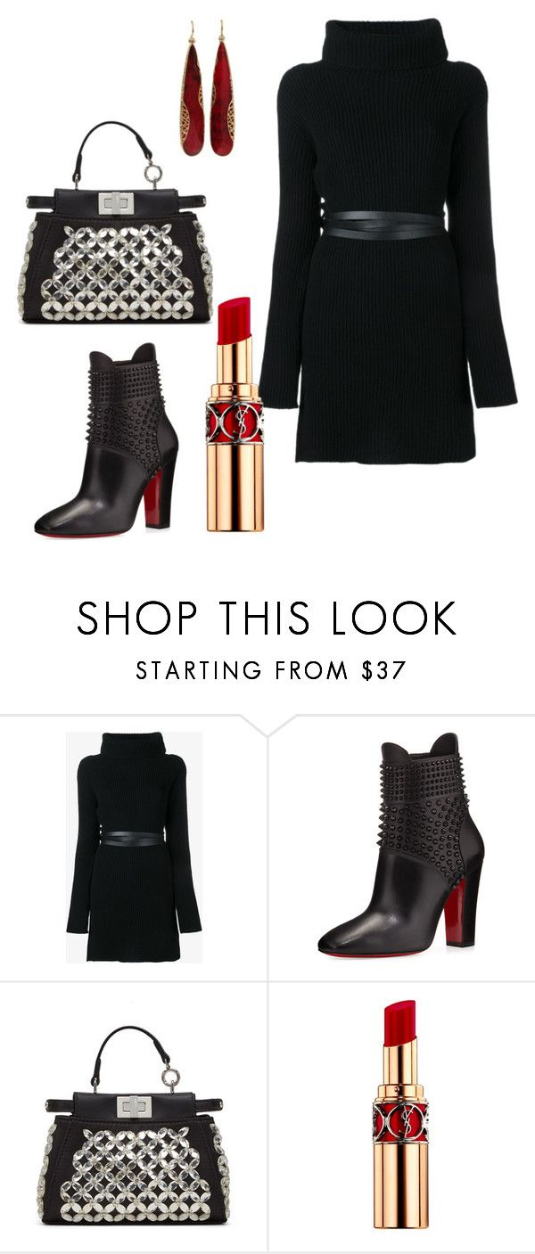"""""""Untitled #195"""" by arta13 ❤ liked on Polyvore featuring Valentino, Christian Louboutin, Fendi, Yves Saint Laurent and Yossi Harari"""