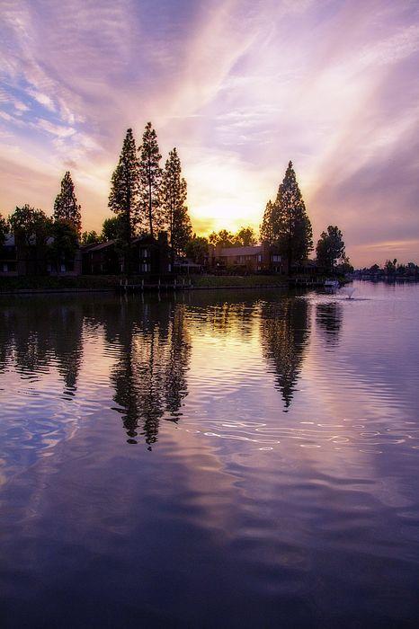 Quail Lake Sunset by Terry Davis